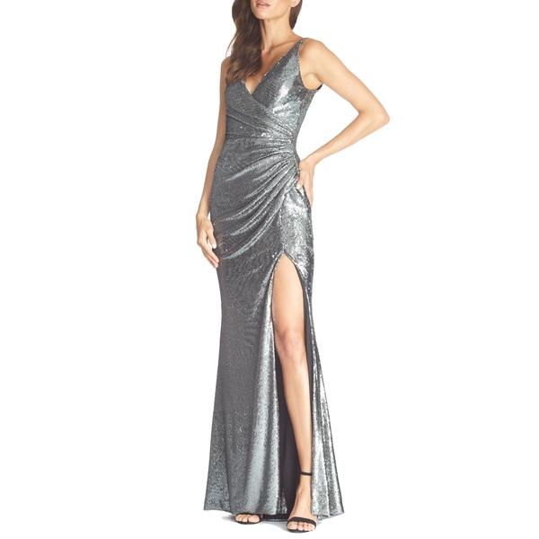 ドレスザポプレーション レディース ワンピース トップス Jordan Ruched Mermaid Gown Gunmetal