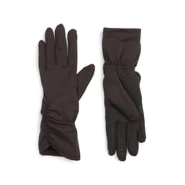 ユーアール レディース 手袋 アクセサリー Side Ruched Stretch Touchscreen Compatible Gloves Black