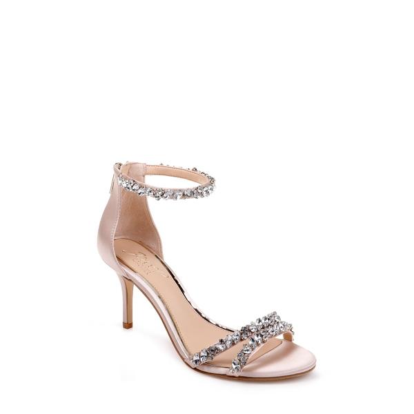 ジュウェルダグレイミシュカ レディース サンダル シューズ Darlene Embellished Ankle Strap Sandal Champagne Satin
