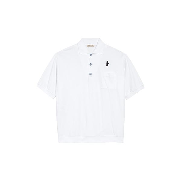 マルニ メンズ シャツ トップス Logo Cotton Jersey Polo Shirt Stone White
