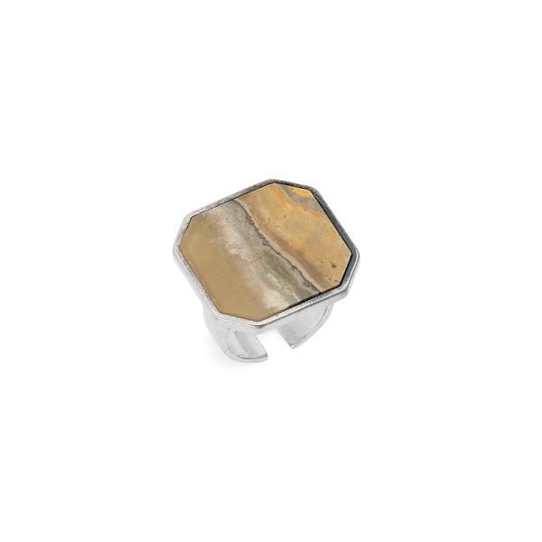 イザベル マラン レディース リング アクセサリー Bague Stone Signet Ring Mustard/ Silver