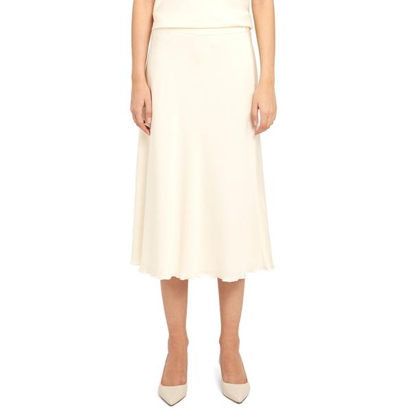 セオリー レディース スカート ボトムス Lettuce Edge Stretch Silk Skirt Ivory