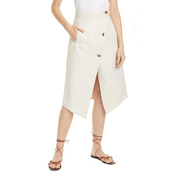 バウムウンドヘルガーデン レディース スカート ボトムス Savannah Asymmetrical Cotton & Linen Skirt Creamy Beige