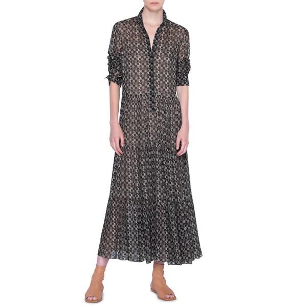 アクリス プント レディース ワンピース トップス Circlefield Print Long Sleeve Maxi Dress Circle Field Print Multi