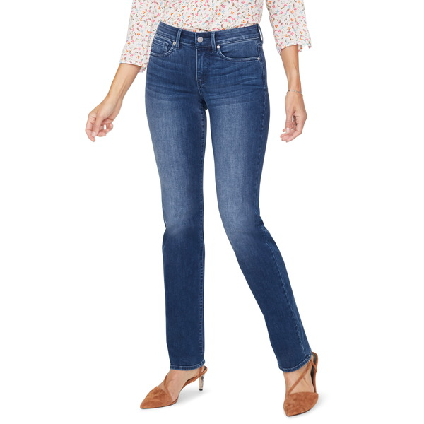 エヌワイディージェイ レディース デニムパンツ ボトムス Marilyn High Waist Cool Embrace Straight Leg Jeans Solana