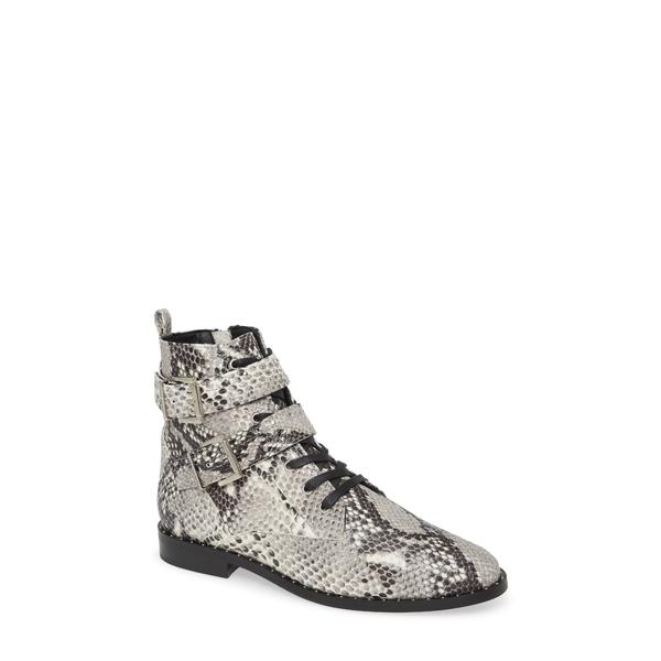 テッドベーカー レディース ブーツ&レインブーツ シューズ Kelanas Studded Bootie Natural Embossed Leather