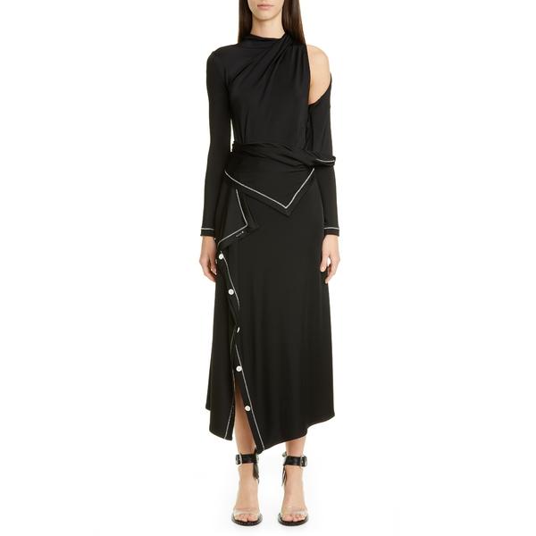 モンス レディース ワンピース トップス Cold Shoulder Long Sleeve Jersey Midi Dress Black