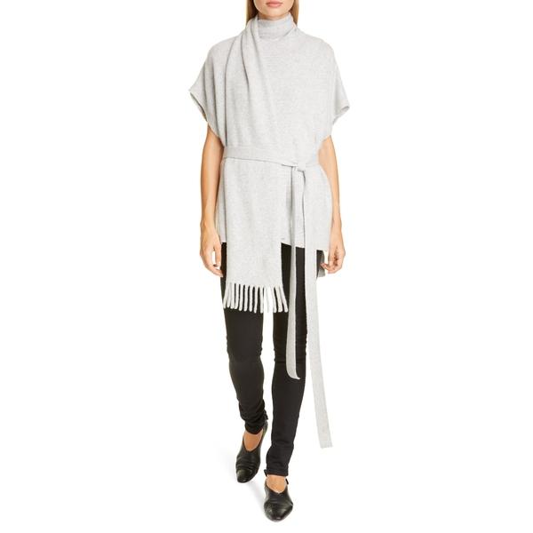 プロエンザショラー レディース ニット&セーター アウター Short Sleeve Cashmere Scarf Sweater Light Grey Melange