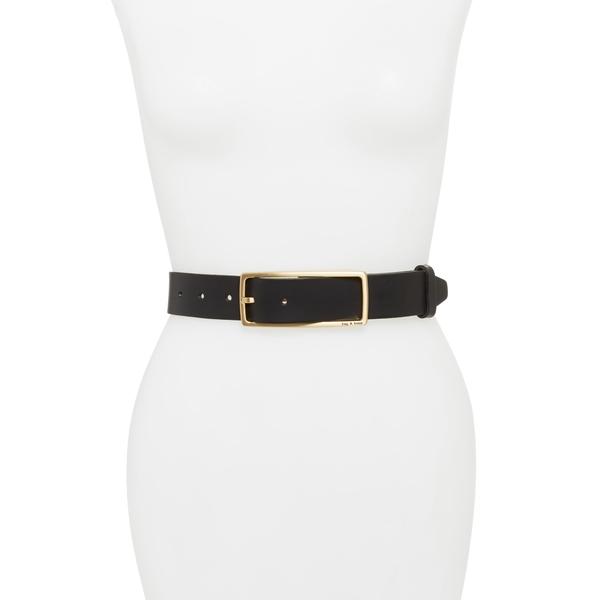 ラグアンドボーン レディース ベルト アクセサリー Rebound Leather Belt Black