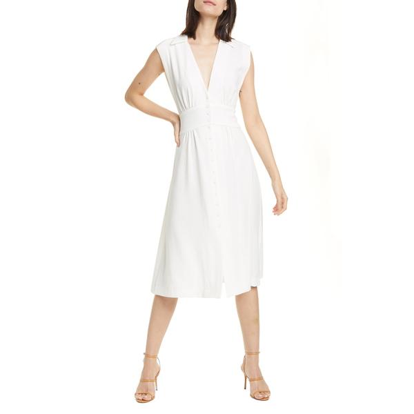 バッシュ レディース ワンピース トップス Faith Sleeveless Midi Shirtdress Off White
