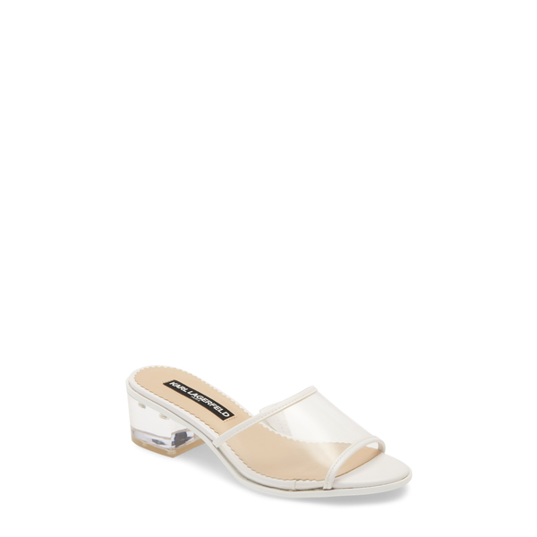 カールラガーフェルド レディース サンダル シューズ Faina Slide Sandal Clear/ White Rubber