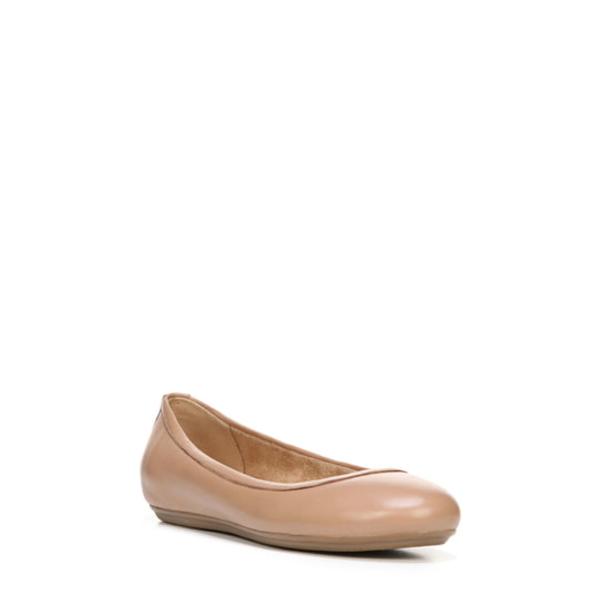 ナチュライザー レディース サンダル シューズ Brittany Ballet Flat Beige Leather