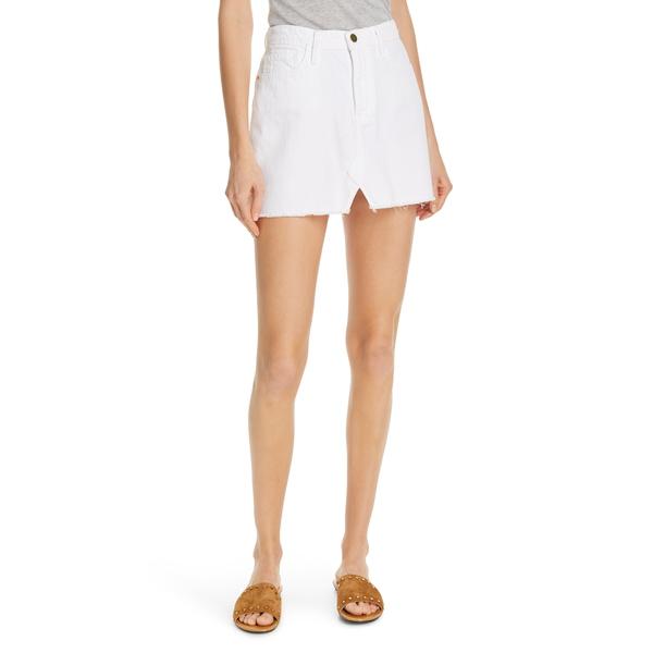 フレーム レディース スカート ボトムス Cutoff Denim Miniskirt Blanc