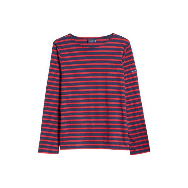 セイントジェームス レディース シャツ トップス Minquiers Moderne Striped Sailor Shirt Marine/Tulipe