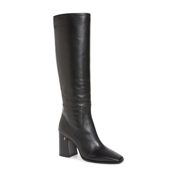 ジミーチュウ レディース ブーツ&レインブーツ シューズ Brionne Leather Knee Boot Black