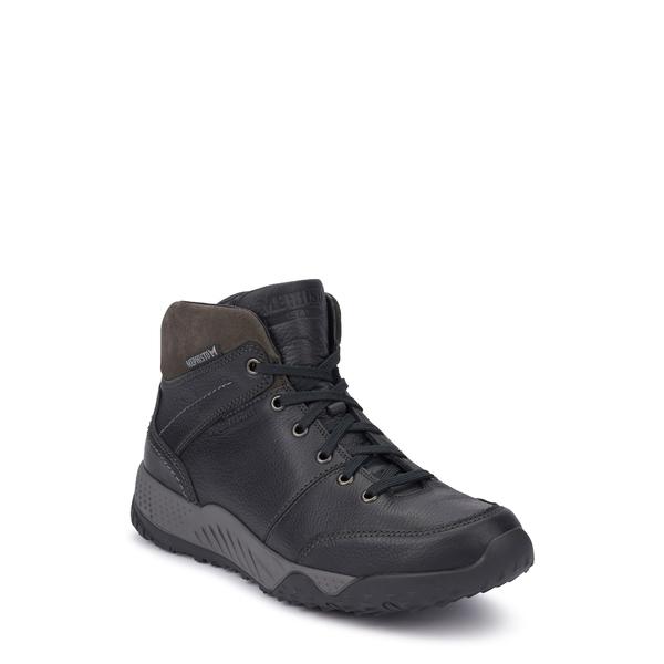 メフィスト メンズ ブーツ&レインブーツ シューズ Fausto Boot Black/ Dark Grey Leather