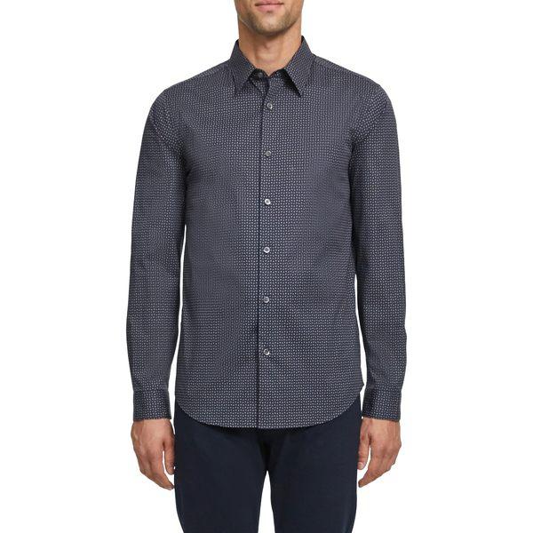 セオリー メンズ シャツ トップス Irving Slim Fit Button-Up Shirt Tamarind Multi