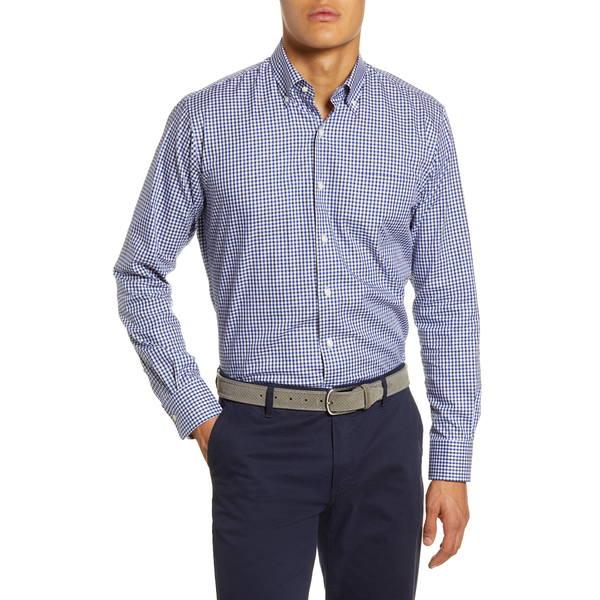 ピーター・ミラー メンズ シャツ トップス Gearheart Check Button-Down Shirt Blue Lapis