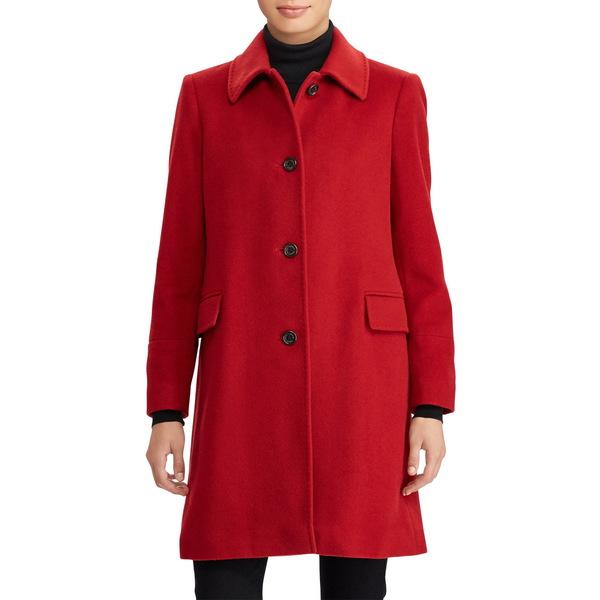ラルフローレン レディース コート アウター Cashmere & Wool Walking Coat Red