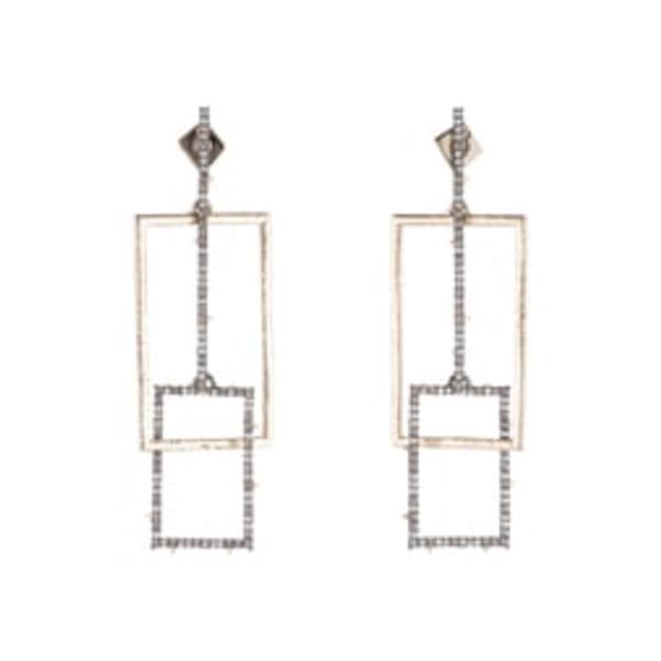 アレクシス ビッター レディース ピアス&イヤリング アクセサリー Brutalist Butterfly Crystal Encrusted Linear Earrings Gold
