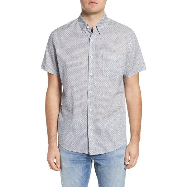 レイルズ メンズ シャツ トップス Carson Short Sleeve Button-Up Shirt Dot Armour Ink