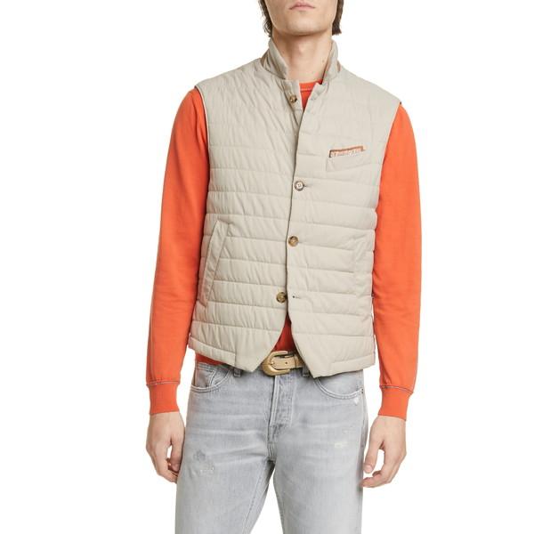 イレブンティ メンズ ジャケット&ブルゾン アウター Packable Quilted Vest Sand