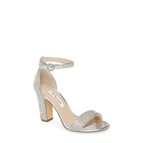 ニナ レディース サンダル シューズ Spring Crystal Embellished Sandal Silver Fabric