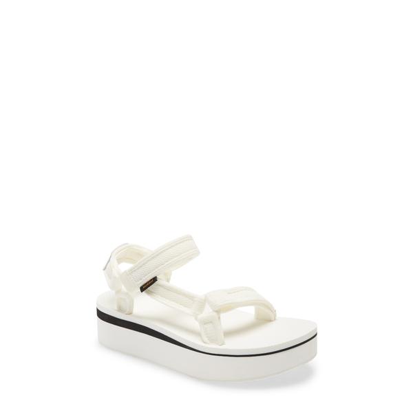 テバ レディース サンダル シューズ Flatform Universal Sandal Bright White Fabric