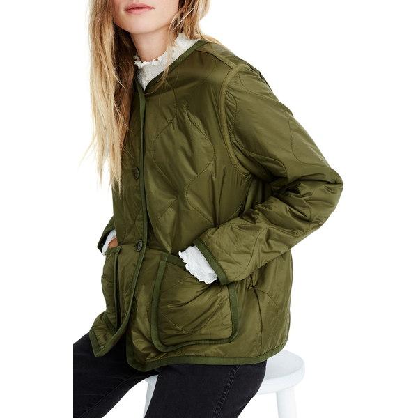 メイドウェル レディース ジャケット&ブルゾン アウター Quilted Liner Jacket Vintage Moss