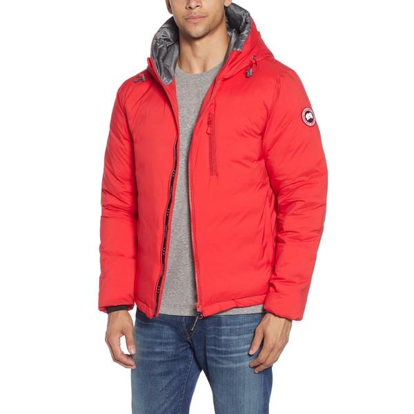 カナダグース メンズ ジャケット&ブルゾン アウター Lodge Packable Windproof 750 Fill Power Down Hooded Jacket Red