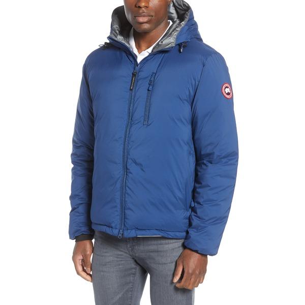 カナダグース メンズ ジャケット&ブルゾン アウター Lodge Packable Windproof 750 Fill Power Down Hooded Jacket Northern Night