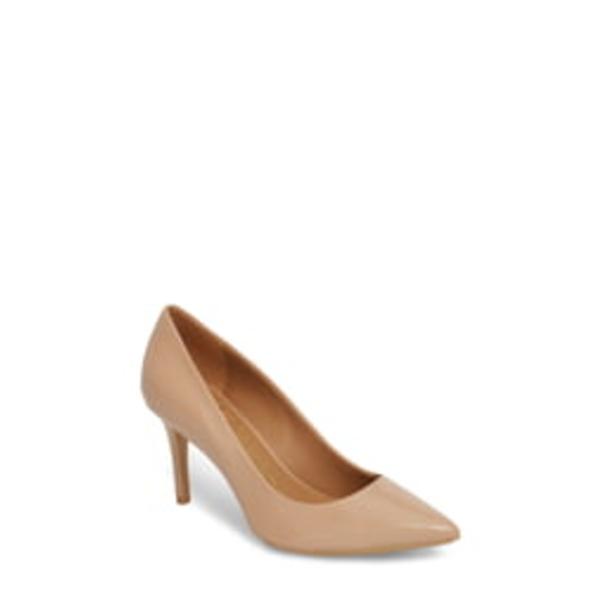 カルバンクライン レディース パンプス シューズ 'Gayle' Pointy Toe Pump Desert Sand Leather