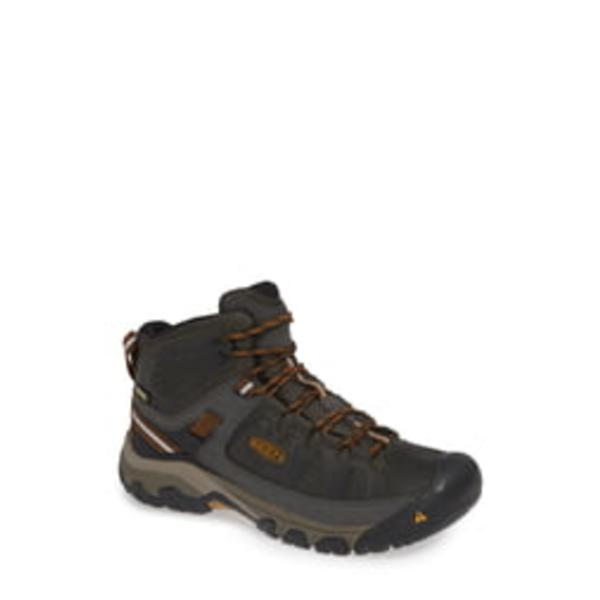 キーン メンズ ブーツ&レインブーツ シューズ Targhee III Mid Waterproof Hiking Boot Black Olive/Golden Brown