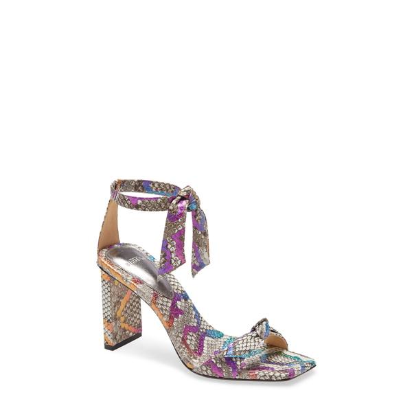 アレクサンドラバードマン レディース サンダル シューズ Clarita Genuine Python Ankle Tie Sandal Multi