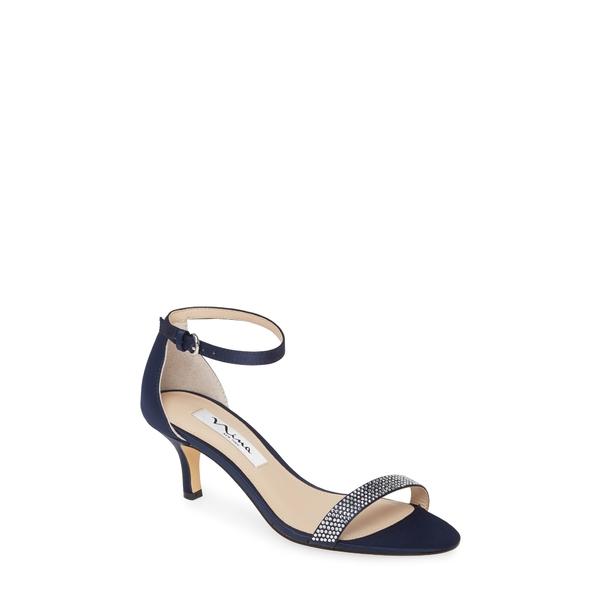 ニナ レディース サンダル シューズ Clarice Ankle Strap Sandal Navy Satin