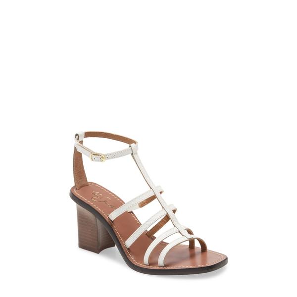 42ゴールド レディース サンダル シューズ Emilla T-Strap Sandal White Leather