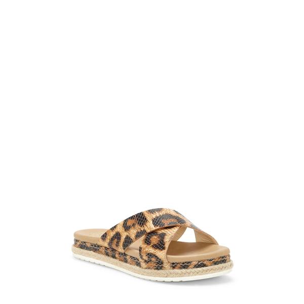 ヴィンスカムート レディース サンダル シューズ Rickert Slide Sandal Animal Print Leather