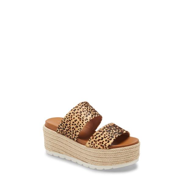ジェースライズ レディース サンダル シューズ Quinzel Platform Slide Sandal Leopard Calf-Hair