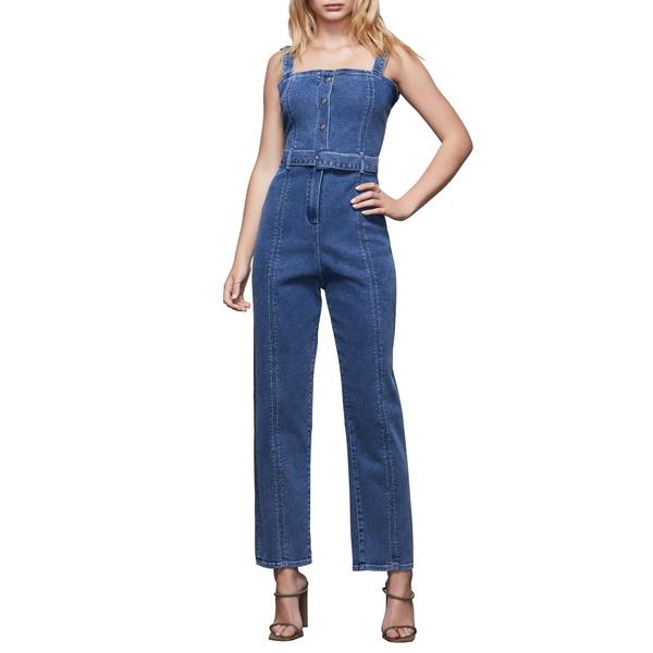 グッドアメリカン レディース ワンピース トップス Belted Sleeveless Jumpsuit Blue