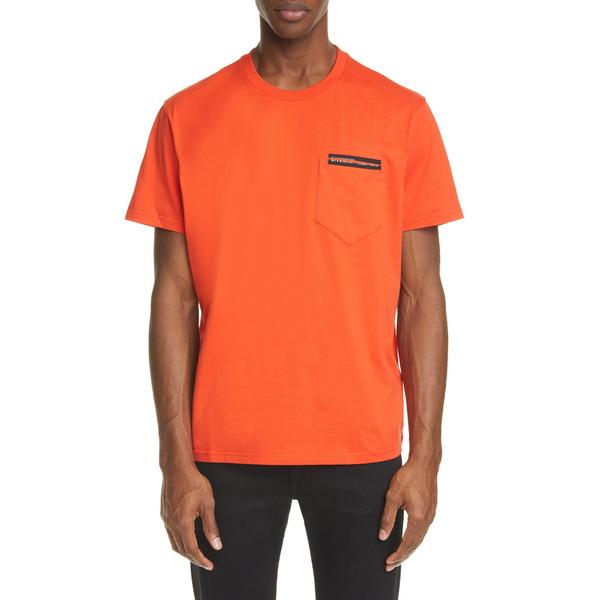 ジバンシー メンズ Tシャツ トップス Address Tape Pocket T-Shirt Bright Red