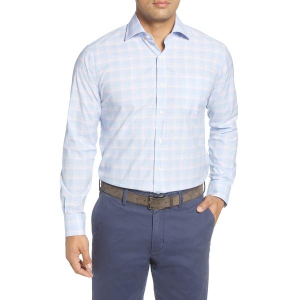 ピーター・ミラー メンズ シャツ トップス Roscoe Glen Regular Fit Plaid Button-Up Shirt Cottage Blue
