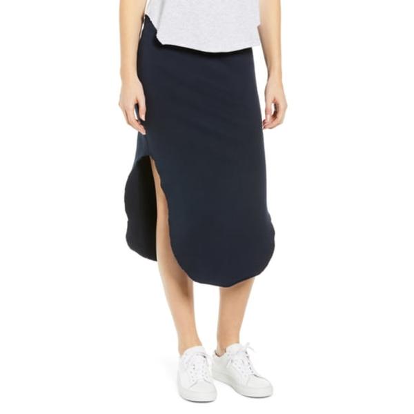 フランク & アイリーン レディース スカート ボトムス Tee Lab Fleece Midi Skirt British Royal Navy