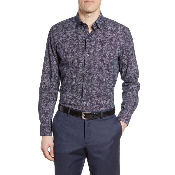 ロバートバラケット メンズ シャツ トップス Welpren Floral Button-Up Shirt Black