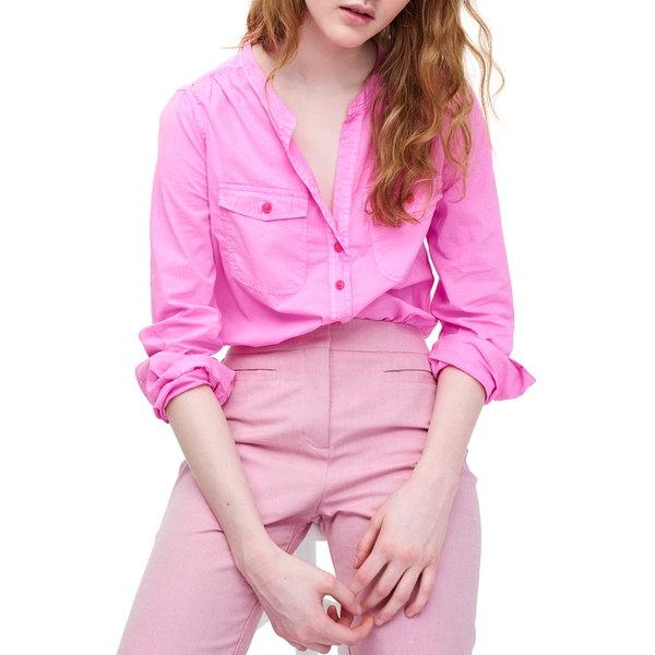 ジェイクルー レディース シャツ トップス Popover Shirt Neon Flamingo
