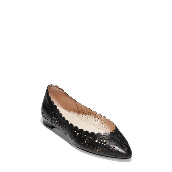 コールハーン レディース サンダル シューズ Grand Ambition Callie Flat Black Leather