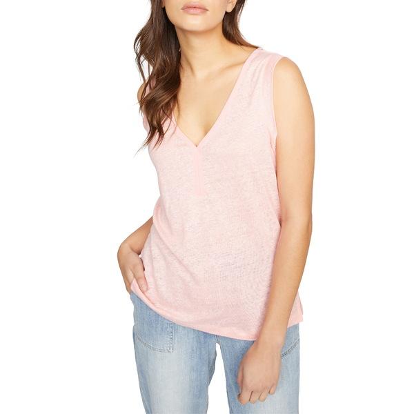 サンクチュアリー レディース Tシャツ トップス Laura V-Neck Linen Tee Light Fresia