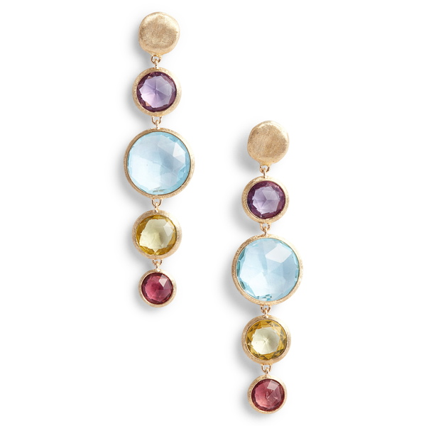マルコ ビチェゴ レディース ピアス&イヤリング アクセサリー Jaipur Semiprecious Stone Drop Earrings Yellow Gold