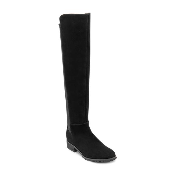 ブロンド レディース ブーツ&レインブーツ シューズ Presto Waterproof Knee High Boot Black Suede
