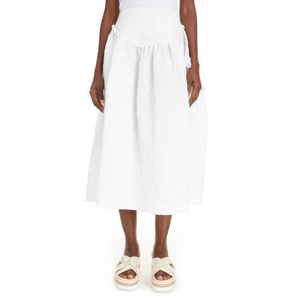 シモーネ・ロシャ レディース スカート ボトムス CloquMidi Skirt White