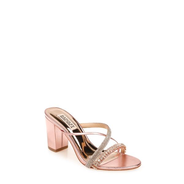 バッドグレイミッシカ レディース サンダル シューズ Badgley Mischka Zoraya Embellished Slide Sandal Rose Leather